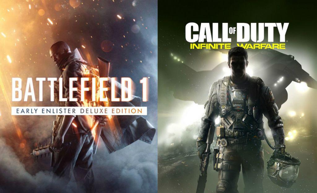 Battlefield 1 e Call of Duty: Infinete Warfare são os novos episódios das franquias da Activison e Electronic Arts para PC, PS4 e Xbox One