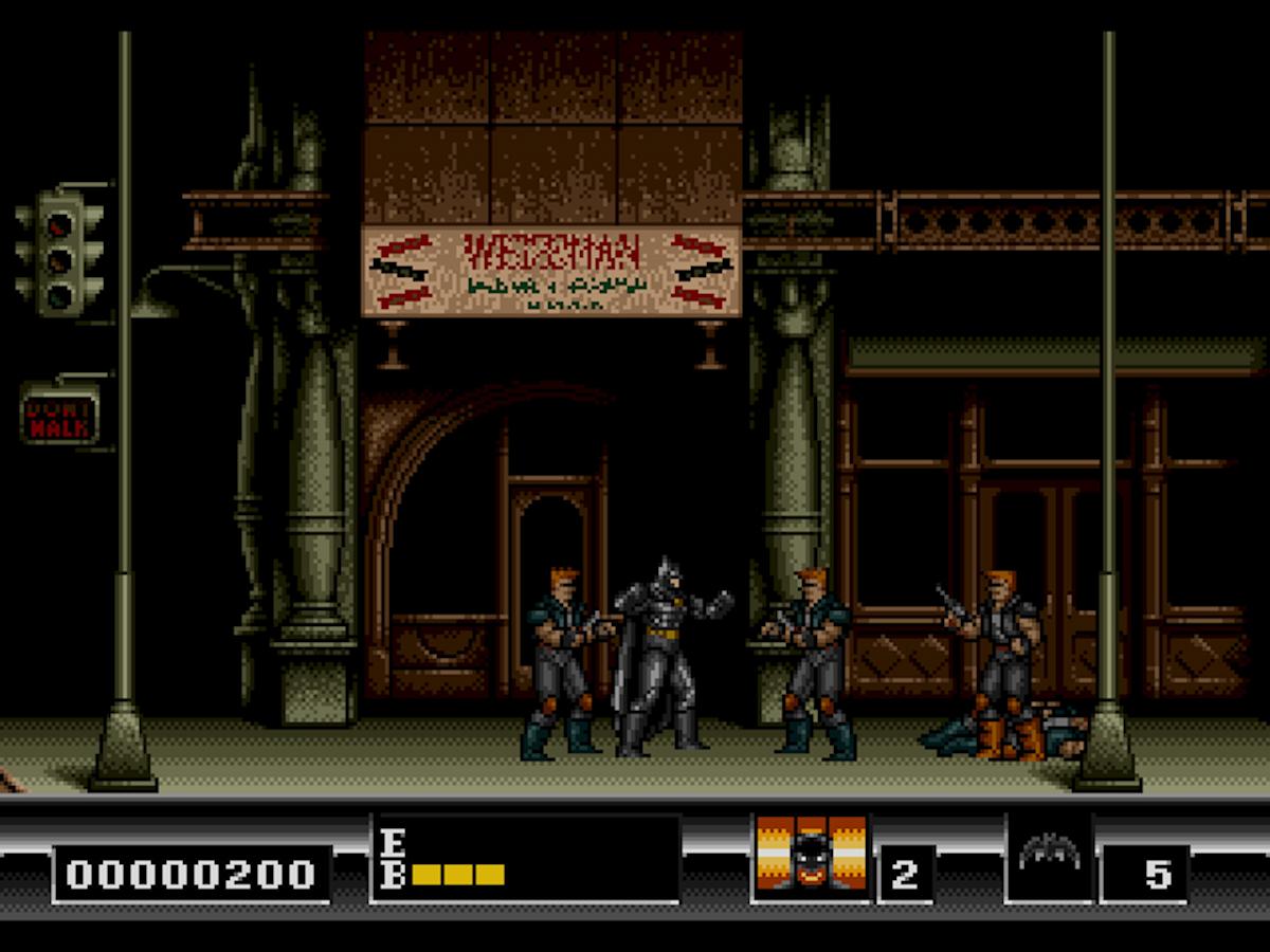 Batman The Video Game foi publicado em 1990 embalado pelo longa-metragem que tinha Jack Nicholson como Coringa