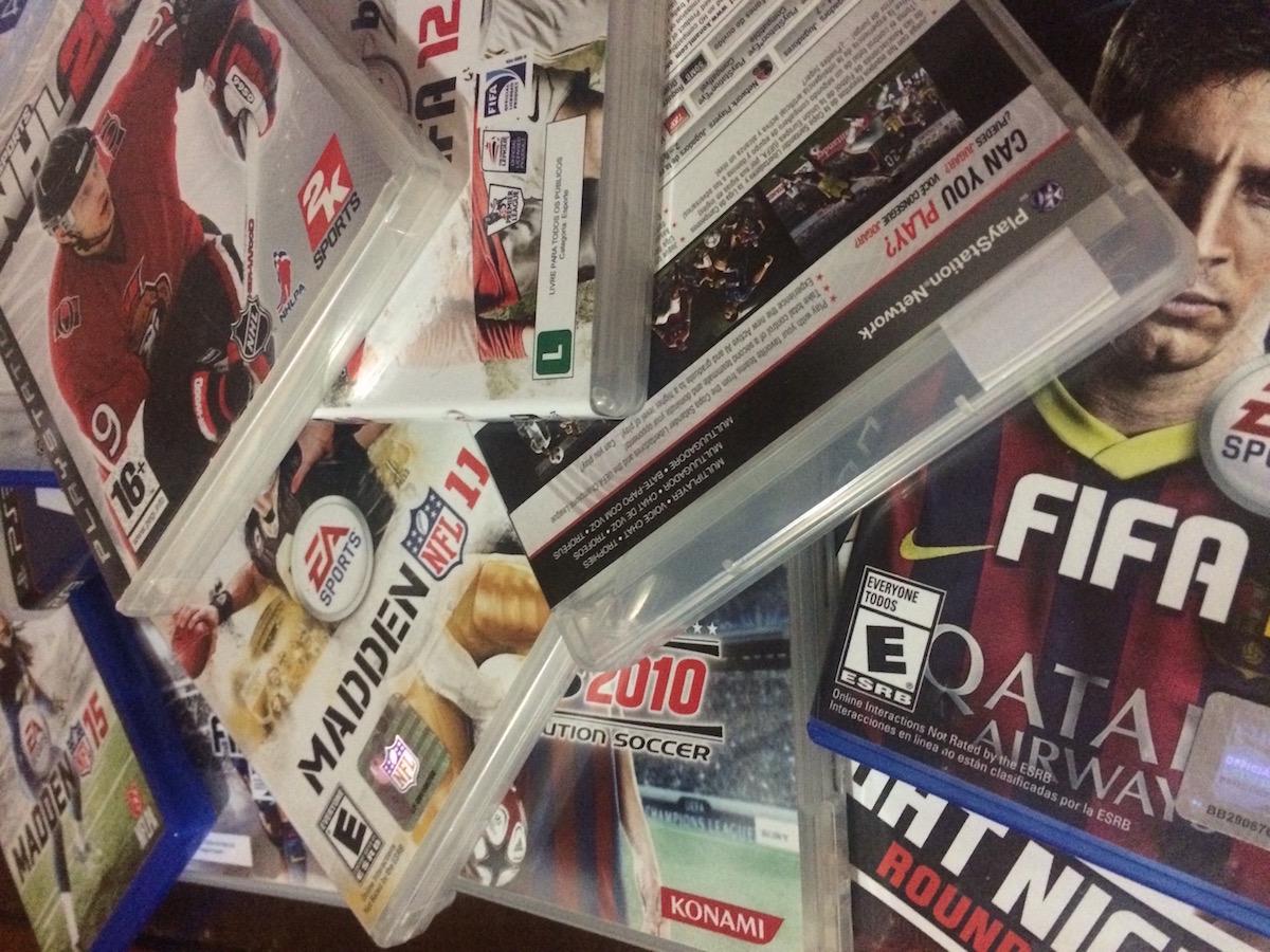 Games de esportes das franquias FIFA, PES, Madden NFL, NHL, Fight Night e F1