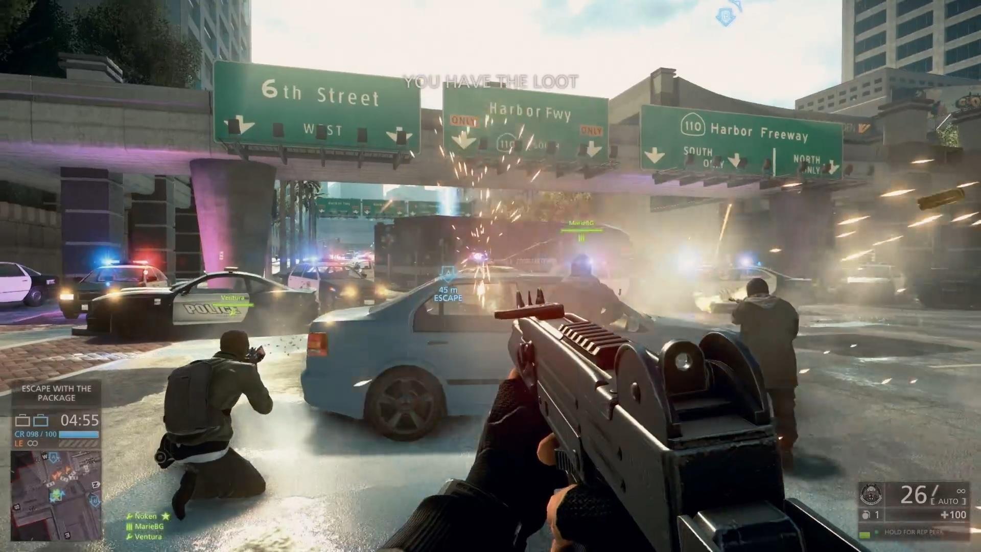 Battlefield Hardline da EA coloca o jogador numa luta entre policiais e bandidos